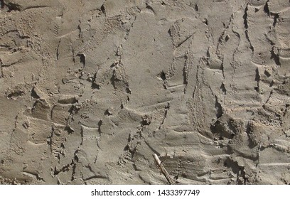 texture and background of a sloppy cement wall