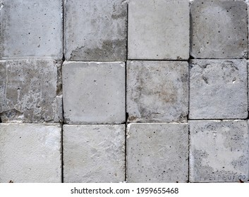 Texture and background squre gray brick pattern