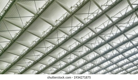 texture background of under the roof in nature light