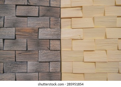 Texture, backgrounds. Wooden 3D panels. Black and white