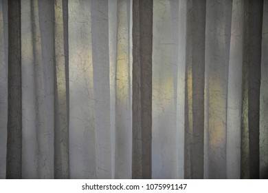 Texture of a backlit curtain