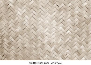 Texture of Bamboo Handicraft Detial