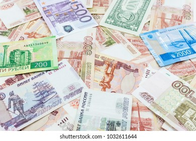 The texture of the banknotes, the background of money