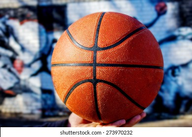 texture of a basketball ball