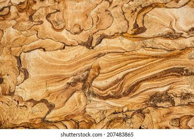 Texture of a beautiful coastal weathered sandstone, Taiwan, Yehliu