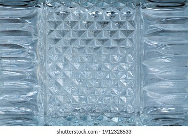 Texture beautiful crystal glass pattern background.