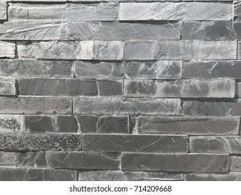 Texture of a black brick walk. Grungy style.