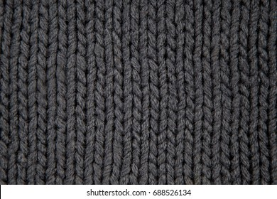 texture black knit sweater large viscous