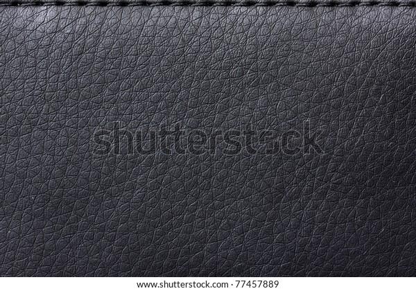 texture Black leather bag