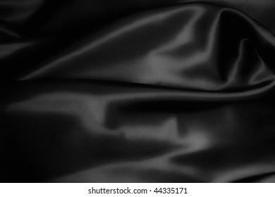 texture of a black  satin close up