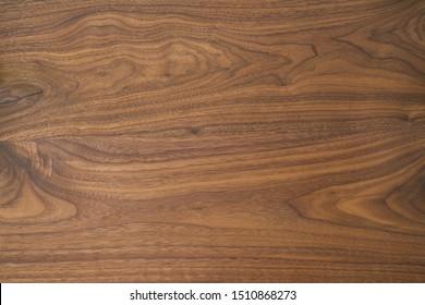 Texture de la table en noix noir de trois planches avec finition à l'huile