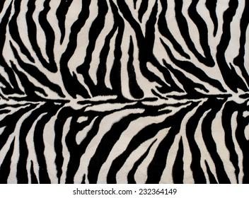 Texture of black and white zebra textile