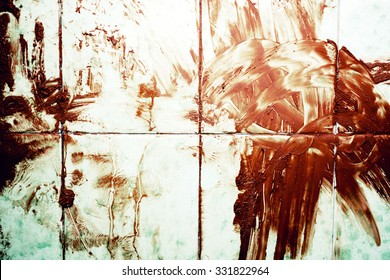 Texture of Bloodied dirty floor close up