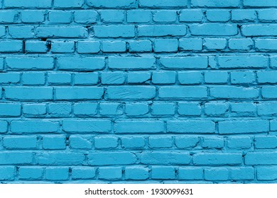 Texture of a blue brick wall of a house