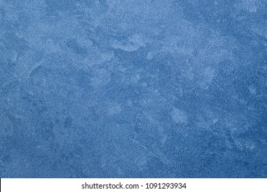 Texture of blue decorative plaster. Abstract background for design.