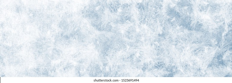 Texture of blue ice as background for advertising spaces in winter