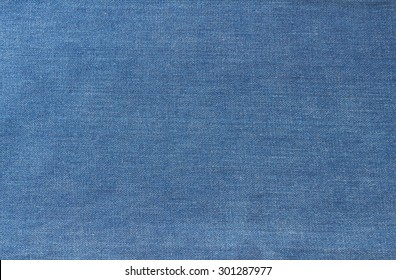 Texture of blue jeans textile close up