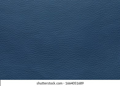 Texture of blue leather as background, closeup