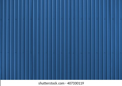 Texture of blue metal roofing