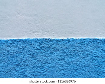 Texture - Blue and White Moroccan and Mediterranean Wall - Soft Grain
