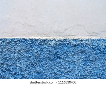 Texture - Blue and White Moroccan and Mediterranean Wall - Large Grain