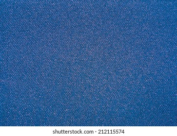 Texture of a blue woven synthetic waterproof fabric