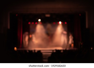Texture blur and defocus, background for design. Stage light at a concert show
