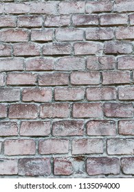 the texture of the brick of the old house