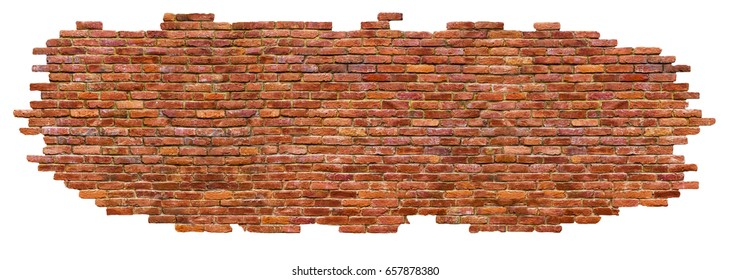 texture of brick wall High quality, isolated on white