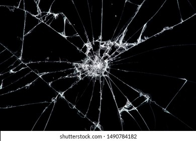 Texture broken glass with cracks. Abstract of cracked screen Smartphone from shock. - Shutterstock ID 1490784182