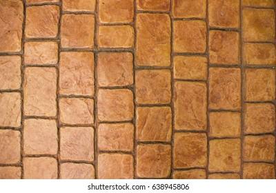 Texture of brown brick floor