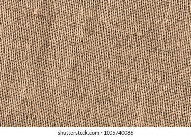 Texture brown canvas fabric as background