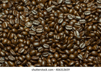 texture of brown coffee beans