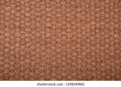 Texture of brown coir fiber mat