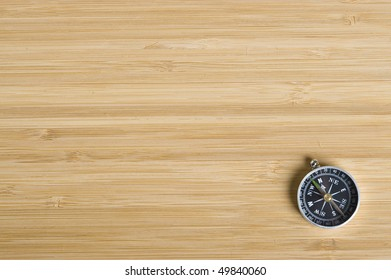 Texture brown wood .Background wood and compass