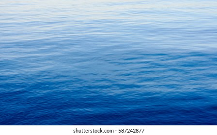 Texture of the calm blue sea water