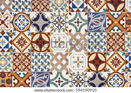 Texture Ceramic Tiles Oriental Turkish Style Foto De Stock
