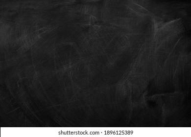 Texture of chalk on black chalkboard or blank blackboard background. School education, dark wall backdrop, template for learning board concept.