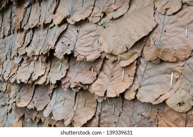Texture of the classic thatch roof, tropical roofing