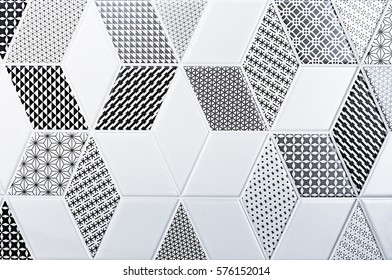 texture of the classic tile, abstract pattern