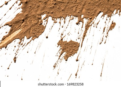 Texture clay moving in white background