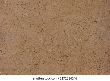 texture of clay plaster with straw