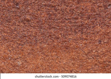 The texture of the clay pot. Macro photo