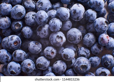 Texture close-up view of fresh bluberries