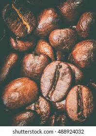 Texture of coffee beans that suitable for background, backdrop, wallpaper, display and everything about coffee artwork design.