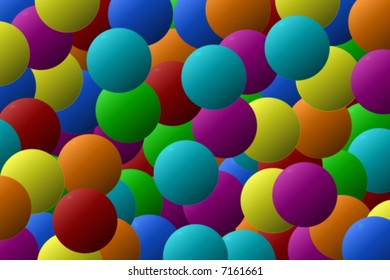 Texture of color ball or bubble