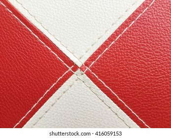 Texture colored leatherette red and white, for design and upholstery for decoration and fashion, for the background and Texture
