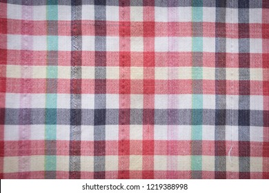 texture of colorful checker cloth, thai loincloth, abstract background concept