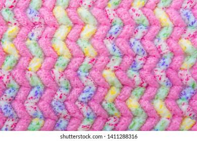 The texture of colorful doormat, doormat background, a beautiful pattern of the doormat