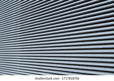 texture of a concrete corrugated wall